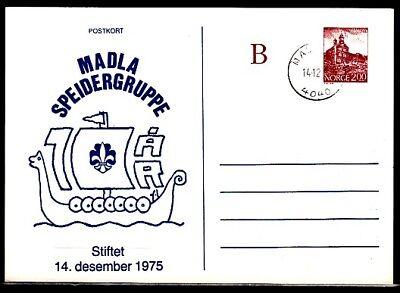 Karte Schulanfang Gute WäRmeerhaltung Dynamisch Norwegen,1985 Cancel Stiftet Scout Group `75 Cachet Auf Post