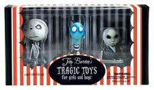 Tim Burton's Tragic Toys - Mummy Boy/Toxic Boy/ Penguin Boy Figure Set