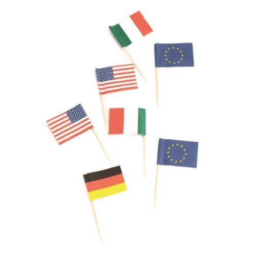 International Flag PicksFoodCake Party DecorationsGBItalyGreece