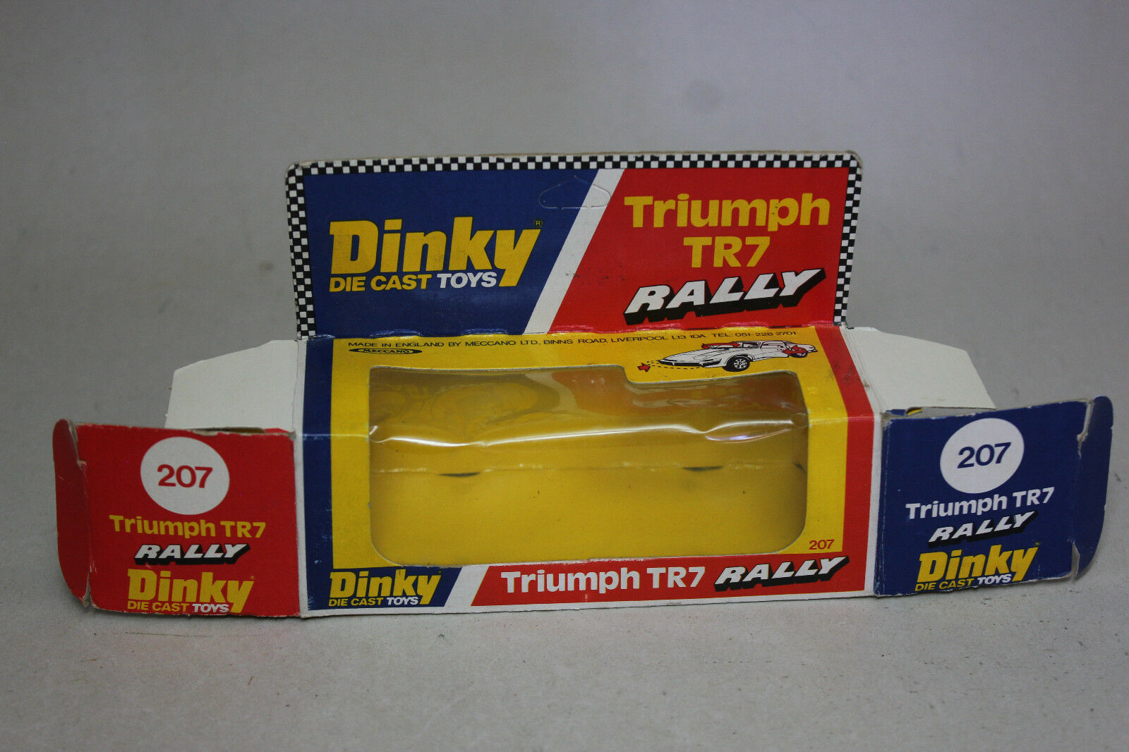 Vintage Dinky Toys 1 43 TRIUMPH TR7 Rally    207 con Caja Original dfcf26