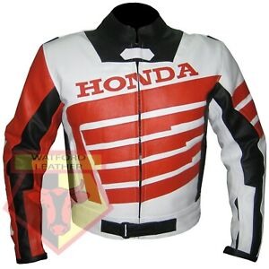 HONDA-9019-ORANGE-MOTORBIKE-MOTORCYCLE-BIKERS-COWHIDE-LEATHER-ARMOURED-JACKET