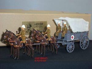 Commande de service de campagne Lancer sur le terrain Ambulance Ensemble de figurines de soldat en métal