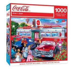 New MasterPieces Coca-Cola Diner 1000 Piece Puzzle 82119