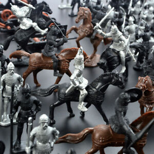 28PCS-Medieval-Knights-Warriors-Horses-Soldiers-Figures-Model-Useful-Ornament