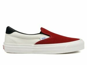 ff5f353f00 VANS VAULT OG Slip-On 59 LX Red Dahlia DS supreme fog marshmallow