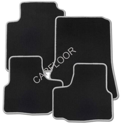 Für VW Caddy Life Bj ab 7.15 Fußmatten Velours schwarz mit Rand dunkelgrau