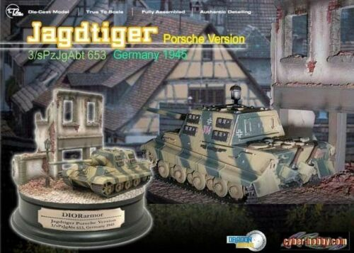 172 DRAGON CYBER HOBBY LTD ED SCALE MODEL JAGDTIGER DIORAMA SET 60201s