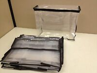 Lot 10 Zippered Storage Organization Cube Bag 11 X 9 X 4 Clear Peva Plastic