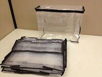 Lot 10 Zippered Storage Organization Cube Bag 11 X 9 X 4 Clear Peva Plastic
