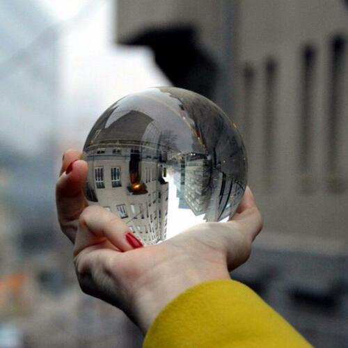 Glass Crystal Ball Clear Photography Healing Sphere Props Gifts Toy 50//80mm US