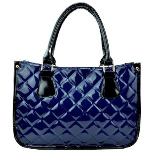 Womens Quilted Faux Leather Multi Color Messenger Shoulder Handbag Ladies Bag