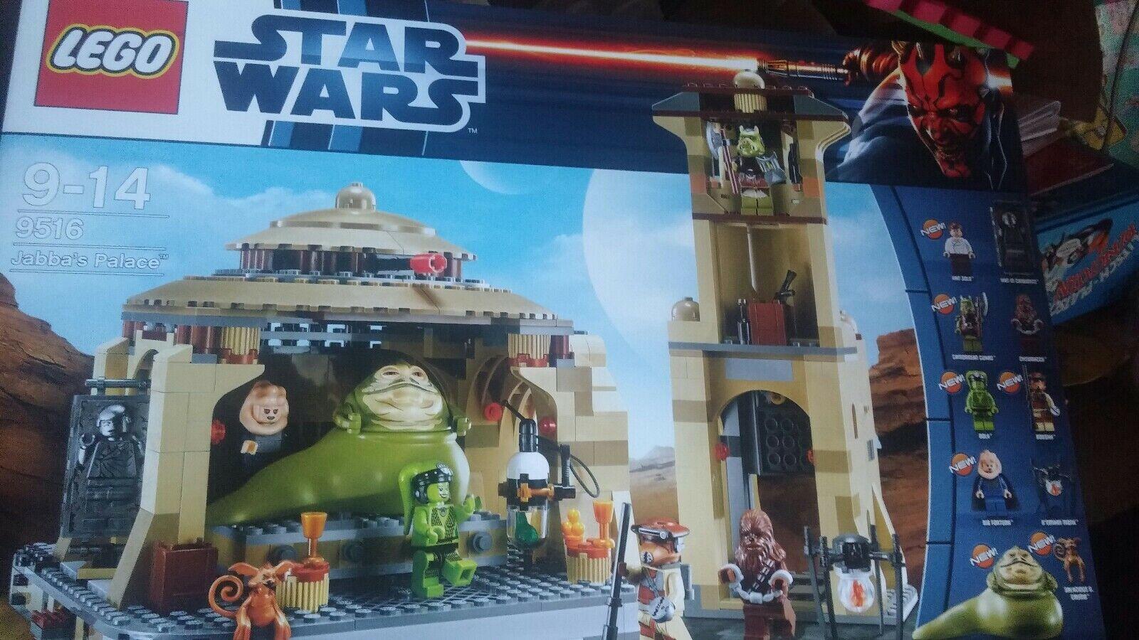 Lego Star Wars 9516 Jabba's Palace Neuf ET Neuf dans sa boîte
