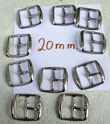 5 Stück Schnallen Schließen Silber Neu Innenmaß 20 mm Dornschließe Blechscnallen