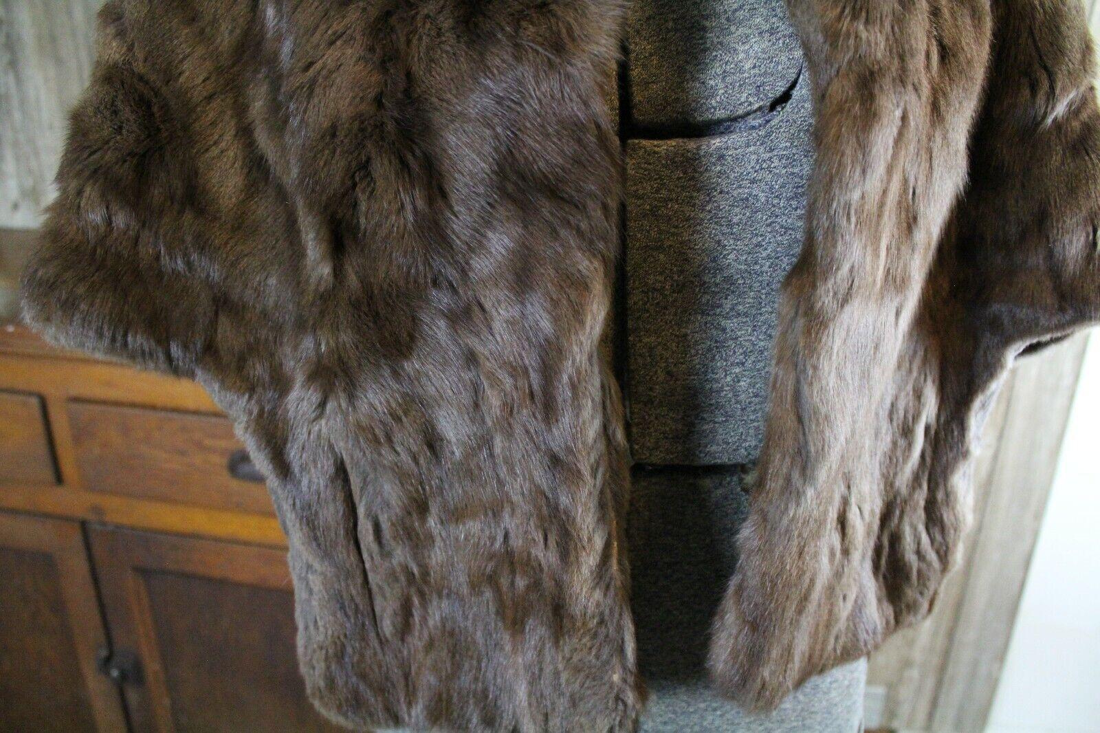 Vintage Goldblatt's Fur Shaw Stole Brown Mink Old… - image 8