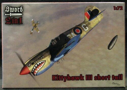 Sword Models 1//72 CURTISS P-40K WARHAWK KITTYHAWK III British Fighter