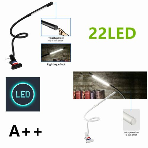 22 LED Klemmleuchte Leselampe Tischlampe Buch Lampe Licht Buchlampe Light Pd