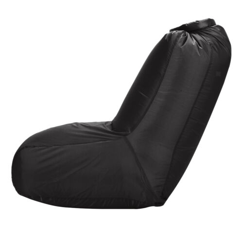 Inflating Lounger Chair Air Bed Lazy Sofa Camping Inflatable Bean Bags Black