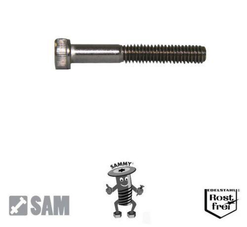 "5 Zollschrauben mit Zylinderkopf V2A 5//16/""-18X2 1//2/"" UNC ANSI B18.3"