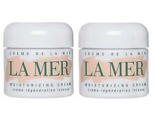 TWO (2x) BRAND NEW La Mer Creme De La Mer Moisturizing Cream Sample .12oz/3.5ml