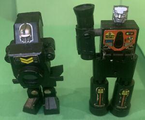 Select Convertors Transformer 2 Figures, Zoom And Focus, Original 1984 Parts Lot