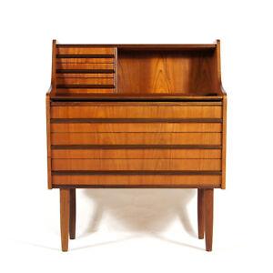 Retro-Vintage-Scandinavian-Danish-Teak-Dressing-Desk-Table-Chest-of-Drawers-60s