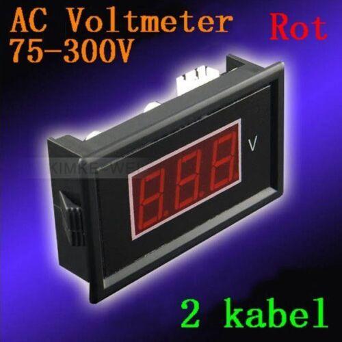 AC 75-300V Rot Led Digital Voltmeter Spannungsmesser Voltanzeige Panel Meter