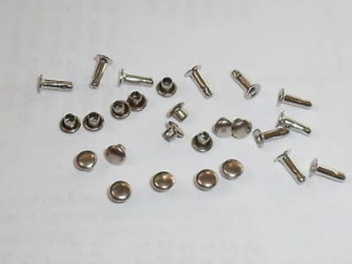 100 Hohlnieten  Nieten 4,5x2x7 Silber rostfrei