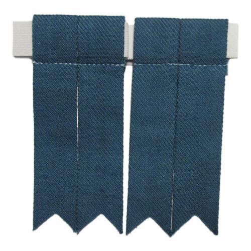Mens/'s Tartanista Plain or Scottish Tartan Kilt Sock Flashes
