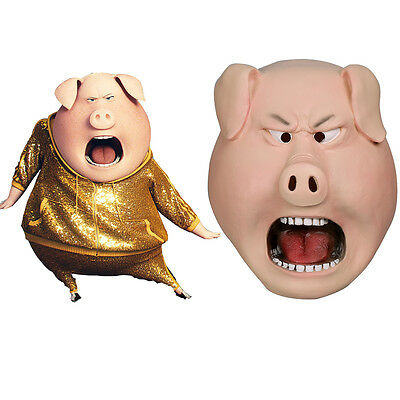 2016 Movie Sing Cosplay The Pig Mask Boar Bob Animal Full Face Mask Halloween