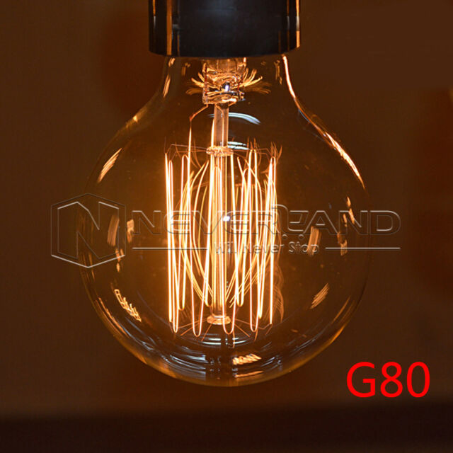 E27 40W 220V Vintage Antique Edison Carbon Filamnet Bombilla Clear Glass Bulb