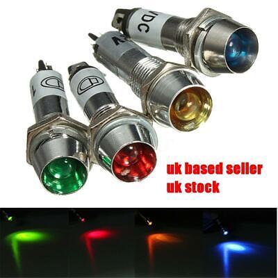 SODIAL R 8mm 24V Car LED Dash Panel Pilot Warning Light Indicator Lamp red