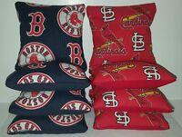 Set Of 8 Cardinals/red Sox Cornhole Bags Free Shipping