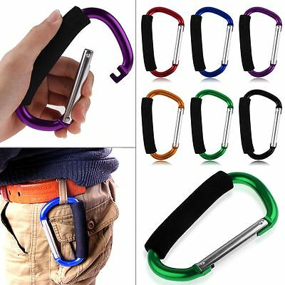 Large Carabiner Easy Grab Hook Shopping Pram Stroller Comfort Handle Clip Holder