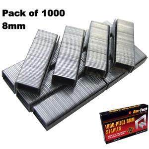 1000pc-8-mm-Agrafes-Agrafeuse-Pack-de-1000-Garnitures-B3772