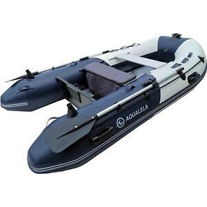 Schlauchboot Ruderboot AQUALELA 360 Alu Boden Paddelboot Gummiboot blau Motor