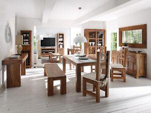 Möbel Für Esszimmer : Esstisch mit stühlen und sitzbank palisander möbel