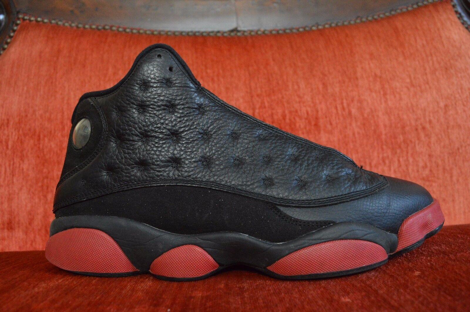 Nike air jordan 13 sporco generato grande palestra red xiii nero 414571 003 9 / 10