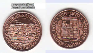 Regensburg-2000-Jahre-Cu-Medaille-18-mm-Tb-uu-stampsdealer