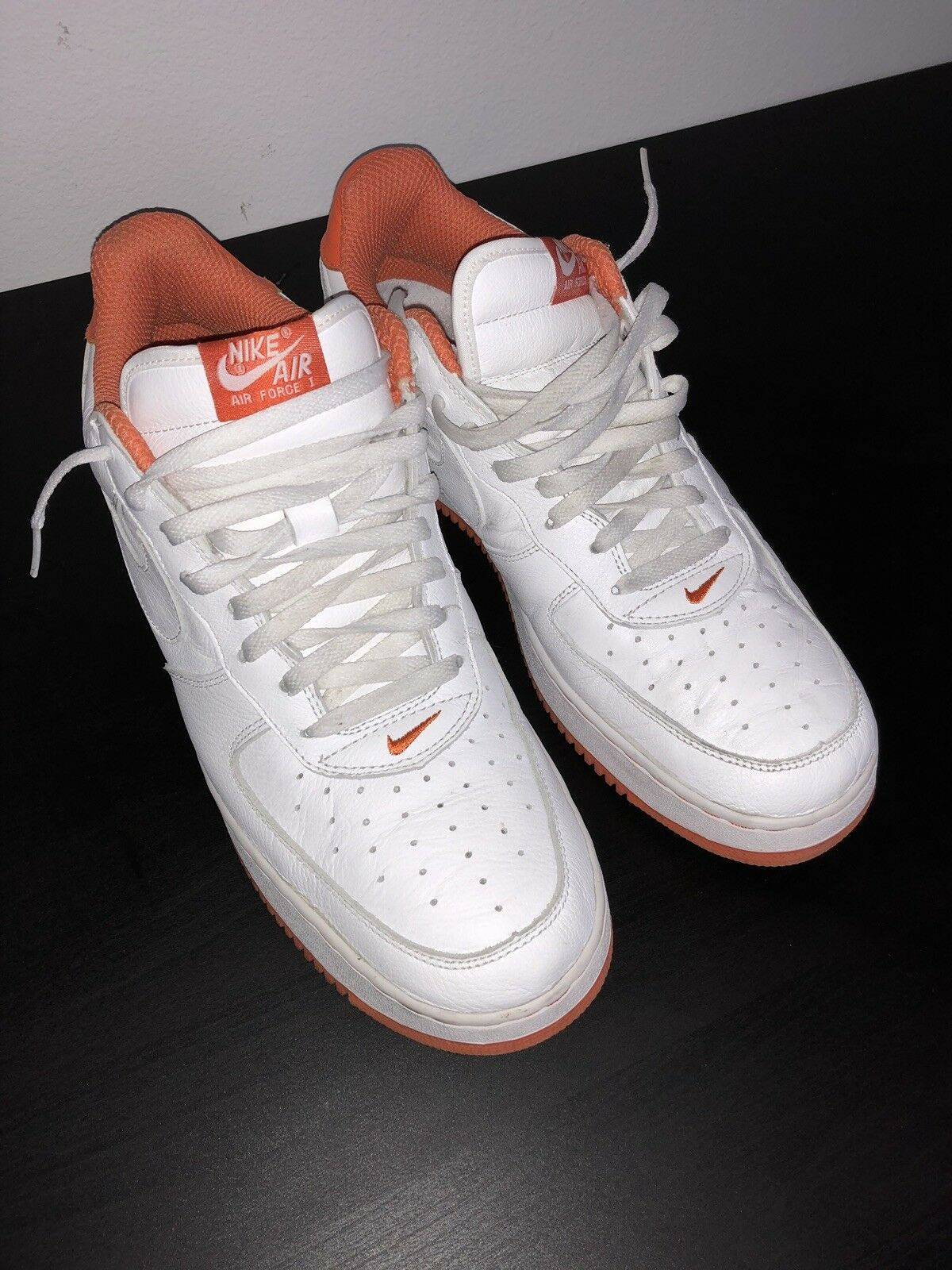 b764ae8dff Nike Air Force 1 Wht orange 14 2001 Men npewbu9016-Athletic Shoes ...