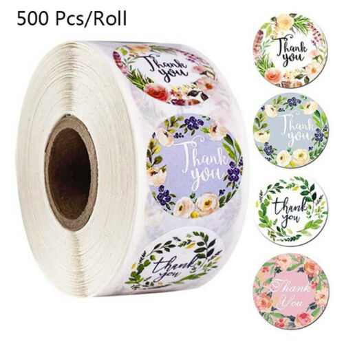 500Pcs Thank You Stickers Seal Labels Scrapbooking Decoration Stationery Stic RC