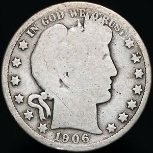 1906-O-U-S-A-Barber-Half-Dollar-Silver-Coins-KM-Coins