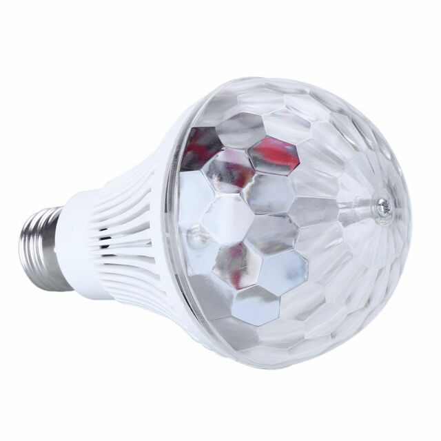 E27 3W Colorful Auto Rotating LED Bulb For Stage Night Light Party Disco Home