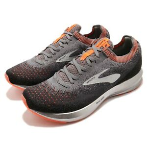 Brooks-Levitate-2-Grey-Black-Orange-Silver-Men-Running-Shoes-Sneakers-110290-1D