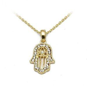 Gold-Plated-Crystal-Hamsa-Hand-Pendant-Necklace-Hand-of-Fatima-Khamsa