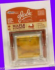 Glade Decor Scents MAPLE PUMPKIN Glass Holder + Refill WARM, DECADENT & SMOOTH