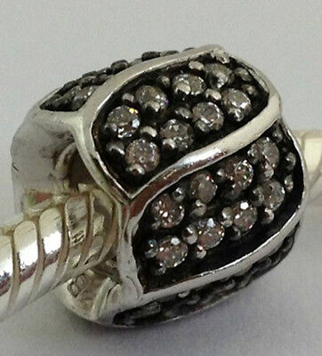 Authentic Chamilia Sterling Silver Jeweled Petals Clear Cz Bead 2025-0610, New