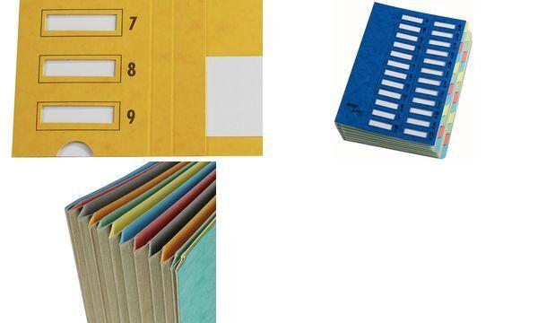 Emey Ordnungsmappe Junior, 24 Fächer, mit Zahlenskala, blau | Moderner Modus  | Wirtschaftlich und praktisch  | Sehr gute Qualität