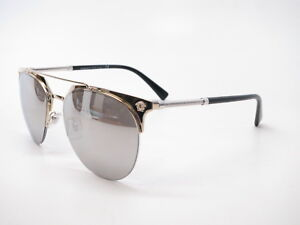 New Versace VE 2181 1252 6G Gold w Light Grey Mirror Silver ... ebc25041f2