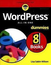 Wordpress All-in-One for Dummies by Lisa Sabin-Wilson (2017, Paperback)