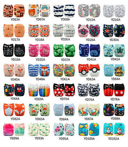 ALVA-Baby-Cloth-Diapers-Lot-One-Size-Reusable-Washable-Pocket-Nappies-Insert